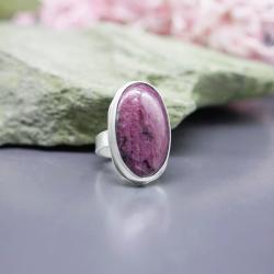 pierścionek z rubinem,zoisyt,regulowany,rubin - Pierścionki - Biżuteria