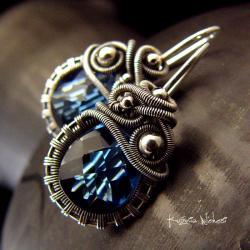 nehesi,kolczyki,srebre,srebra,granatowe,ink - Kolczyki - Biżuteria