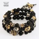 Bransoletki koplet bransolet,surowa biżuteria z czaszkami