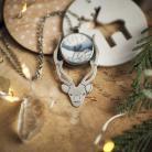 Naszyjniki jeleń,leśne historie,agat dendrytowy,srebrny