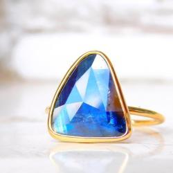 pierścionek,szafir,,pierścionek zaręczynowy, - Pierścionki - Biżuteria