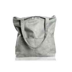 szara torba,torba z kieszeniami - Na ramię - Torebki