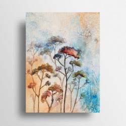 trawy,łąka,akwarela - Obrazy - Wyposażenie wnętrz