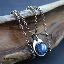 niebieski wisior,naszyjnik z kyanitem, - Naszyjniki - Biżuteria