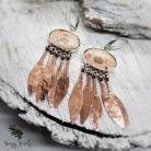 Kolczyki indiański styl,kolczyki z jaspisem,wielobarwne
