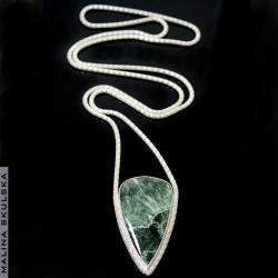 długi,serafinit,efektowny,elegancki - Naszyjniki - Biżuteria