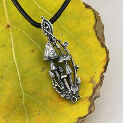 grzyby,grzybobranie,magiczny domek,drzwiczki - Wisiory - Biżuteria