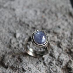 pierścionek srebro tanzanit oksyda - Pierścionki - Biżuteria