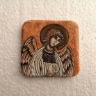 Ceramika i szkło Beata Kmieć,ikona ceramiczna,Anioł Stróż