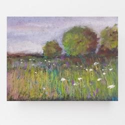 łąka,pastele - Obrazy - Wyposażenie wnętrz