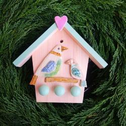 domek na klucze,ptaszek,ptaki,na klucze - Ceramika i szkło - Wyposażenie wnętrz