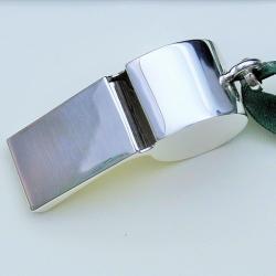 gwizdek ze srebra.gwizdek grawerowany,prezent - Inne - Dodatki
