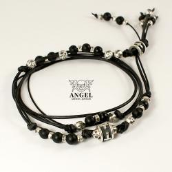 męska biżuteria,naszyjnik skórzany dla mężczyzn - Dla mężczyzn - Biżuteria