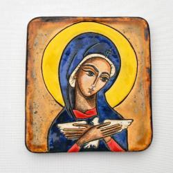 Beata Kmieć,ikona ceramiczna,Pneumatofora - Ceramika i szkło - Wyposażenie wnętrz