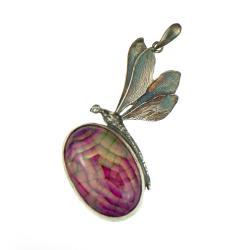 ważka,srebrna ważka,wisior,prezent - Wisiory - Biżuteria