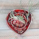 Ceramika i szkło miseczki czerwone,komplet misek,ceramika