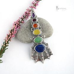 baśń,kolorowy wisior - Wisiory - Biżuteria