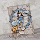 Kartki okolicznościowe dziewczynka,urodziny,imieniny,miś,gorjuss