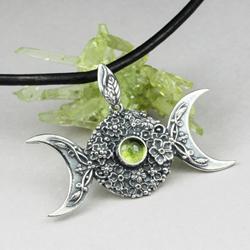 potrójna bogini,wicca,amulet,księżyc,symbol - Wisiory - Biżuteria