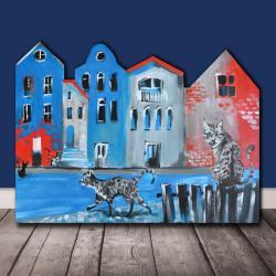 kot,koty,miasto,dom,kamienica,kociara,kicie, - Dla dzieci - Akcesoria