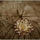 Naszyjniki Kwiatowy,duży wisior z cytrynem