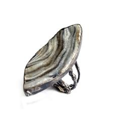 pierścionek,CHALCEDON,RÓŻA,srebrny,srebro, - Pierścionki - Biżuteria