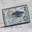 Kartki okolicznościowe mężczyzna,urodziny,imieniny,steampunk,zeppelin