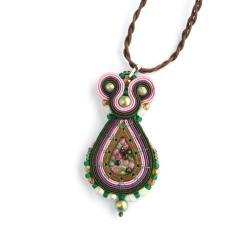 wisior z turmalinami turmalin,kamienie naturalne - Wisiory - Biżuteria