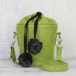 torebka zielona,kuferek,torebka na ramię - Na ramię - Torebki
