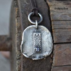 surowe srebro,surowy naszyjnik,surowy wisior - Naszyjniki - Biżuteria