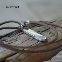 surowe srebro,męski naszyjnik,surowy wisior - Dla mężczyzn - Biżuteria