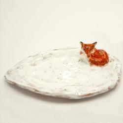 patera,lis,dekoracja,upominek,parapetówka - Ceramika i szkło - Wyposażenie wnętrz