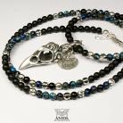 Naszyjniki naszyjnik z czarnego onyksu,biżuteria męska