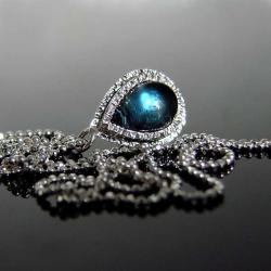 srebro,topaz,london,naszyjnik - Naszyjniki - Biżuteria