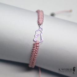 minimalistyczna,wąska,bransoletka,makrama - Bransoletki - Biżuteria