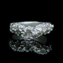 srebro,obrączka,pierścionek,unikat - Pierścionki - Biżuteria