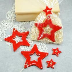 gwiazda,zawieszka,ozdoba świąteczna - Ceramika i szkło - Wyposażenie wnętrz
