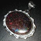 Wisiory matrix,blask,opal,teczowy,okazały,srebrny,unikat,