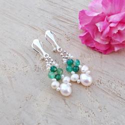 klipsy,perły,lekkie,plecione,JewelsbyKT - Klipsy - Biżuteria