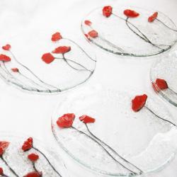 szklane talerzyki maki deserowe - Ceramika i szkło - Wyposażenie wnętrz