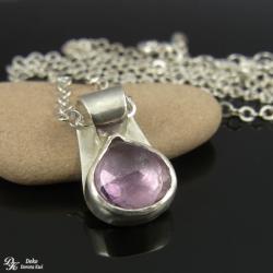 mikrus,lux,ametyst,fiolet,naszyjnik,srebro,mały - Naszyjniki - Biżuteria