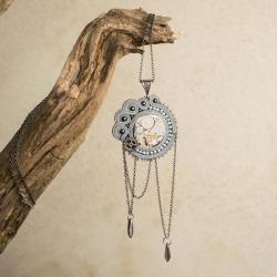 steampunkowy wisior,wisior sutasz,naszyjnik - Wisiory - Biżuteria