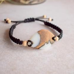 bransoletka z drewna i żywicy,bransoletka - Bransoletki - Biżuteria