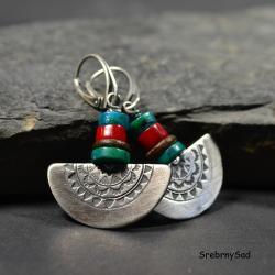 kolczyki wykopaliskowe,postarzana biżuteria, - Kolczyki - Biżuteria