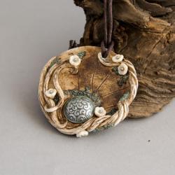 medalion,wisior z kwiatami,wisior - Wisiory - Biżuteria