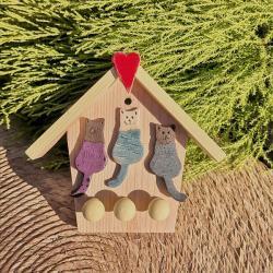 domek na klucze,koty,kotki,kot,na klucze - Ceramika i szkło - Wyposażenie wnętrz