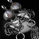 Kolczyki srebrne,kolczyki,wire-wrapping,labradoryt,ciba