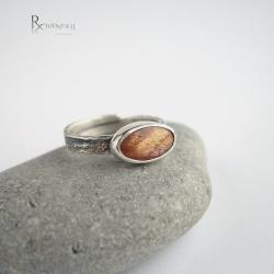 kamień słoneczny,złota barwa,błysk - Pierścionki - Biżuteria