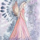 Ilustracje, rysunki, fotografia ogród,akwarela,anioły,ilustracja,anioł,kobieta
