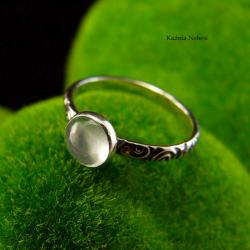 nehesi,pierscionek,srebrny,akwamarynem - Pierścionki - Biżuteria